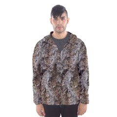 DOUGLAS FIR BARK Hooded Wind Breaker (Men)