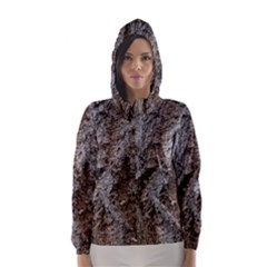DOUGLAS FIR BARK Hooded Wind Breaker (Women)