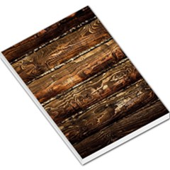 Dark Stained Wood Wall Large Memo Pads