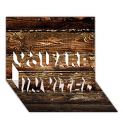 Dark Stained Wood Wall You Are Invited 3d Greeting Card (7x5)
