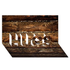Dark Stained Wood Wall Hugs 3d Greeting Card (8x4)