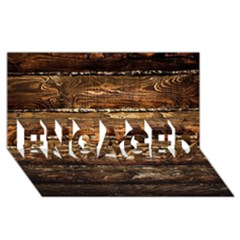DARK STAINED WOOD WALL ENGAGED 3D Greeting Card (8x4)