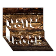 Dark Stained Wood Wall You Rock 3d Greeting Card (7x5)