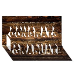 DARK STAINED WOOD WALL Congrats Graduate 3D Greeting Card (8x4)
