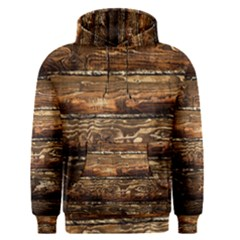 Dark Stained Wood Wall Men s Pullover Hoodies