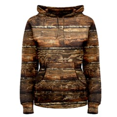 Dark Stained Wood Wall Women s Pullover Hoodies