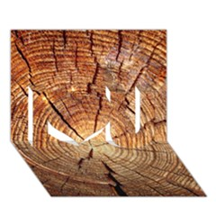 CROSS SECTION OF AN OLD TREE I Love You 3D Greeting Card (7x5)