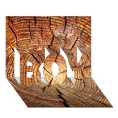 CROSS SECTION OF AN OLD TREE BOY 3D Greeting Card (7x5)
