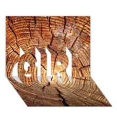 CROSS SECTION OF AN OLD TREE GIRL 3D Greeting Card (7x5)