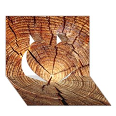 Cross Section Of An Old Tree Heart 3d Greeting Card (7x5)