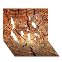 CROSS SECTION OF AN OLD TREE LOVE 3D Greeting Card (7x5)