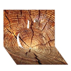 Cross Section Of An Old Tree Apple 3d Greeting Card (7x5)