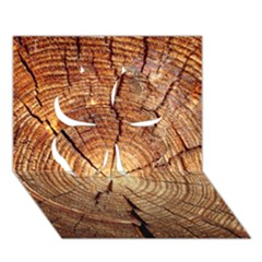 CROSS SECTION OF AN OLD TREE Clover 3D Greeting Card (7x5)