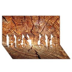 CROSS SECTION OF AN OLD TREE BEST SIS 3D Greeting Card (8x4)
