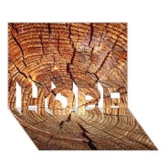 Cross Section Of An Old Tree Hope 3d Greeting Card (7x5)