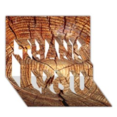 Cross Section Of An Old Tree Thank You 3d Greeting Card (7x5)