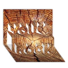 Cross Section Of An Old Tree You Rock 3d Greeting Card (7x5)