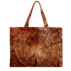 Cross Section Of An Old Tree Zipper Tiny Tote Bags