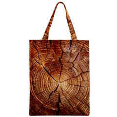 CROSS SECTION OF AN OLD TREE Zipper Classic Tote Bags