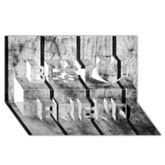 BLACK AND WHITE FENCE Best Friends 3D Greeting Card (8x4)