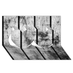BLACK AND WHITE FENCE Twin Hearts 3D Greeting Card (8x4)