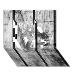 Black And White Fence Love 3d Greeting Card (7x5)