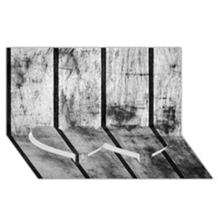 BLACK AND WHITE FENCE Twin Heart Bottom 3D Greeting Card (8x4)