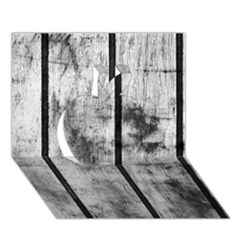 Black And White Fence Apple 3d Greeting Card (7x5)