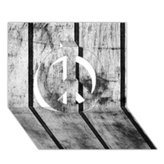 Black And White Fence Peace Sign 3d Greeting Card (7x5)