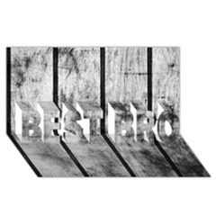 Black And White Fence Best Bro 3d Greeting Card (8x4)