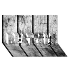 BLACK AND WHITE FENCE BEST SIS 3D Greeting Card (8x4)