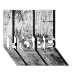 Black And White Fence Hope 3d Greeting Card (7x5)