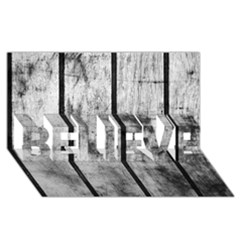 Black And White Fence Believe 3d Greeting Card (8x4)
