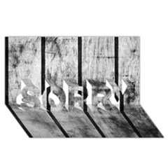 BLACK AND WHITE FENCE SORRY 3D Greeting Card (8x4)