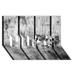 BLACK AND WHITE FENCE HUGS 3D Greeting Card (8x4)