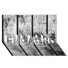 BLACK AND WHITE FENCE ENGAGED 3D Greeting Card (8x4)