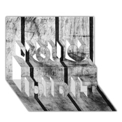BLACK AND WHITE FENCE You Did It 3D Greeting Card (7x5)
