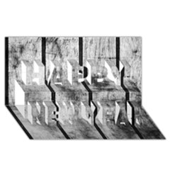 Black And White Fence Happy New Year 3d Greeting Card (8x4)