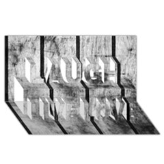 Black And White Fence Laugh Live Love 3d Greeting Card (8x4)