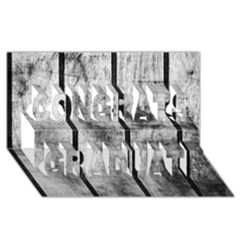 BLACK AND WHITE FENCE Congrats Graduate 3D Greeting Card (8x4)