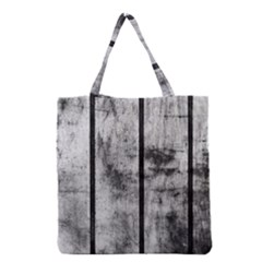 BLACK AND WHITE FENCE Grocery Tote Bags