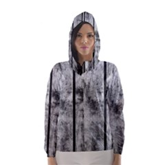 Black And White Fence Hooded Wind Breaker (women)