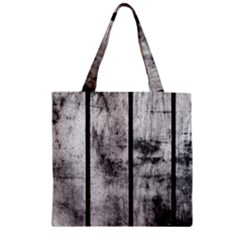 Black And White Fence Zipper Grocery Tote Bags