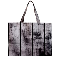 BLACK AND WHITE FENCE Zipper Tiny Tote Bags