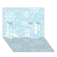 Frosty I Love You 3d Greeting Card (7x5)