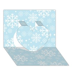 Frosty Heart 3D Greeting Card (7x5)