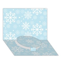 Frosty Circle Bottom 3D Greeting Card (7x5)
