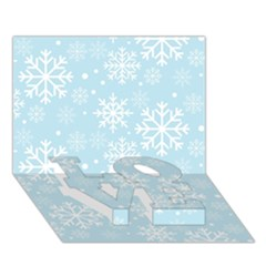 Frosty LOVE Bottom 3D Greeting Card (7x5)