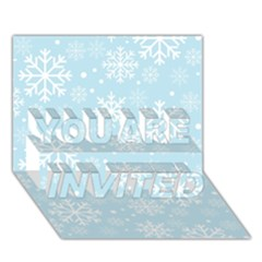 Frosty YOU ARE INVITED 3D Greeting Card (7x5)