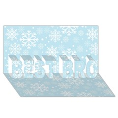 Frosty BEST BRO 3D Greeting Card (8x4)